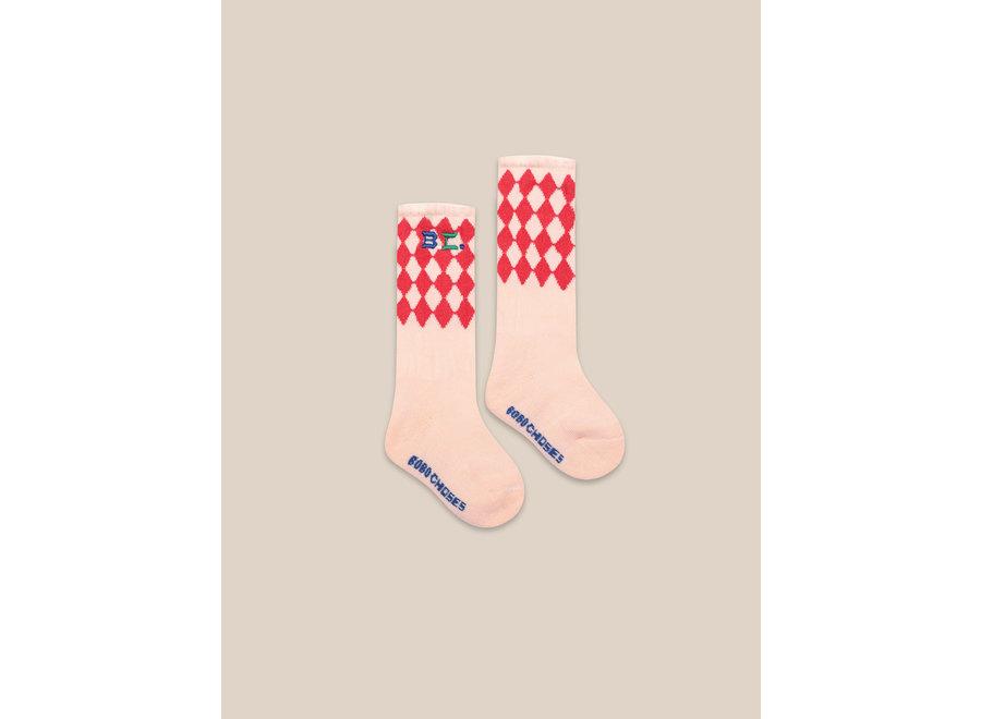 Diamond Long Socks