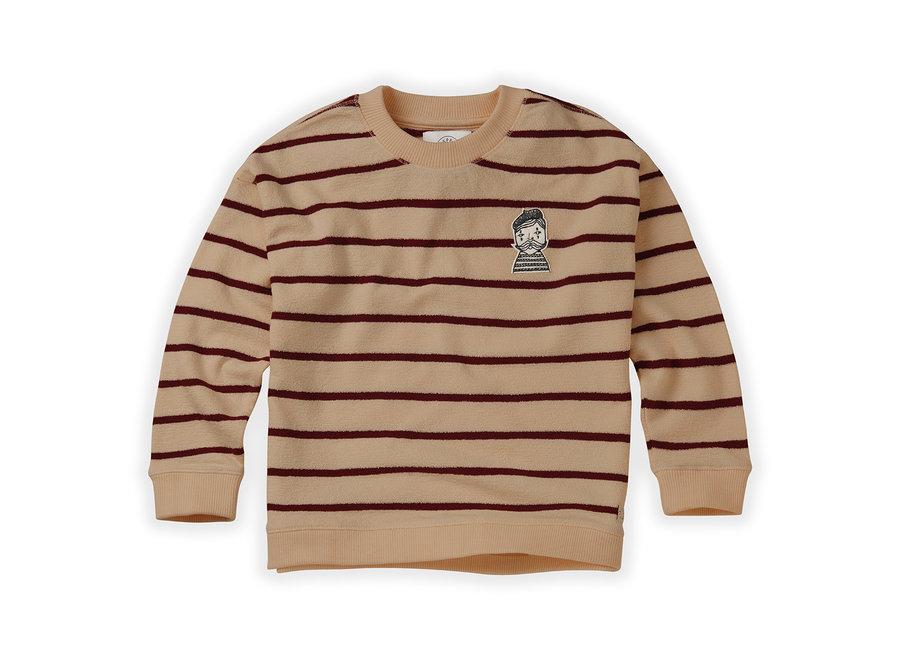 Sweatshirt Loose Stripe