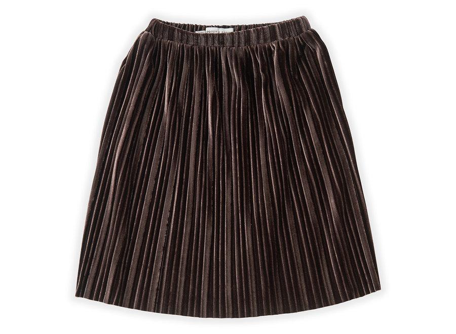 Skirt Velvet Pleats