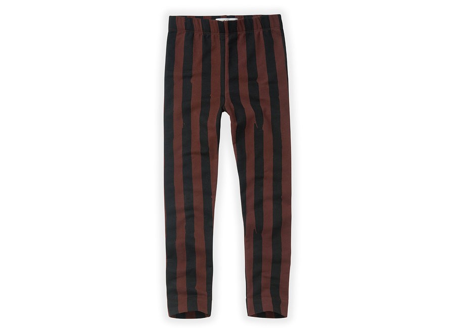 Pants Painted Stripe Chocolate