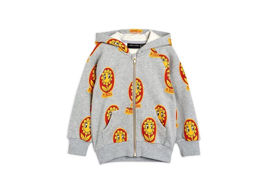 Flower aop zip hoodie