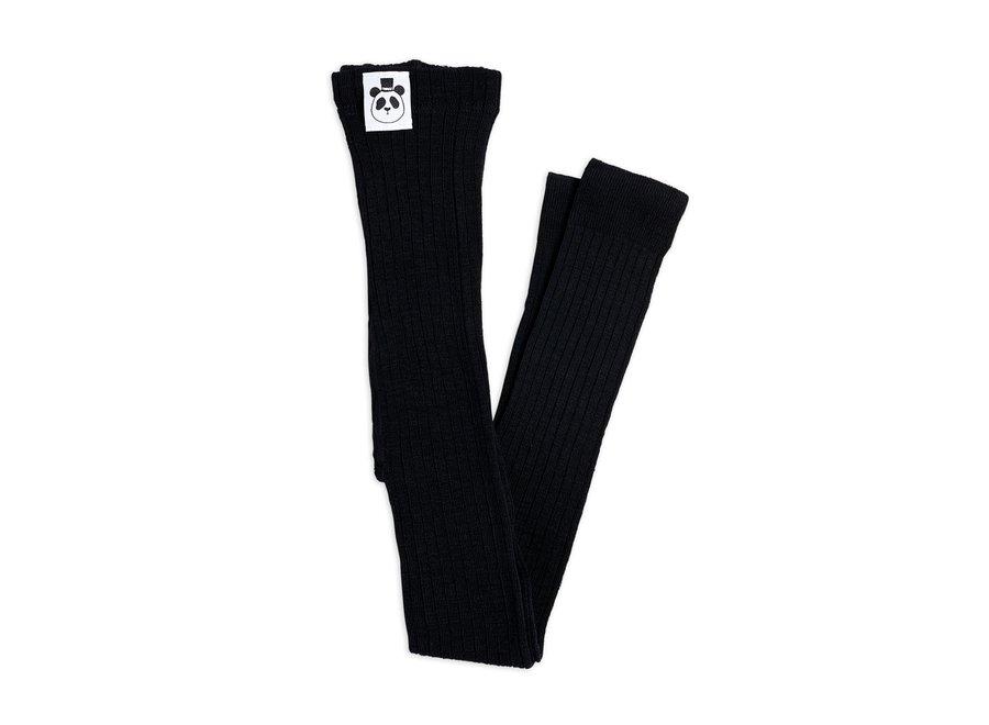 Ribbed leggings black