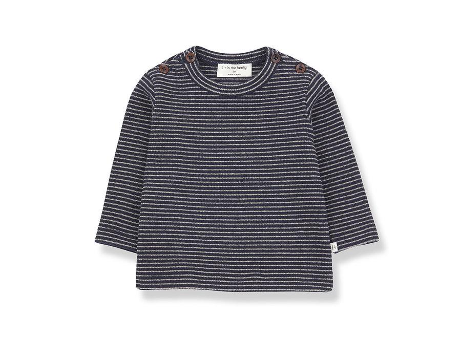 Jasper T-shirt blue notte/beige