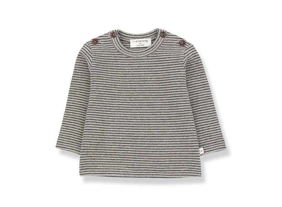 Jasper T-shirt beige/blue notte