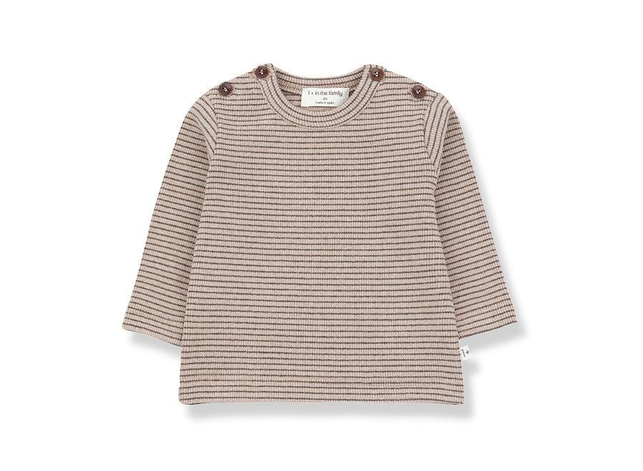 Jasper T-shirt rose/terrau