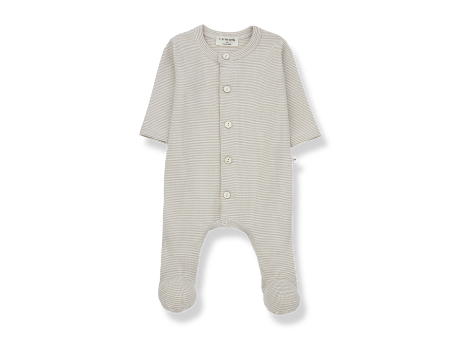Delphine jumpsuit with feet ecru