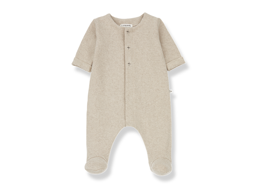 Odette jumpsuit with feet cream