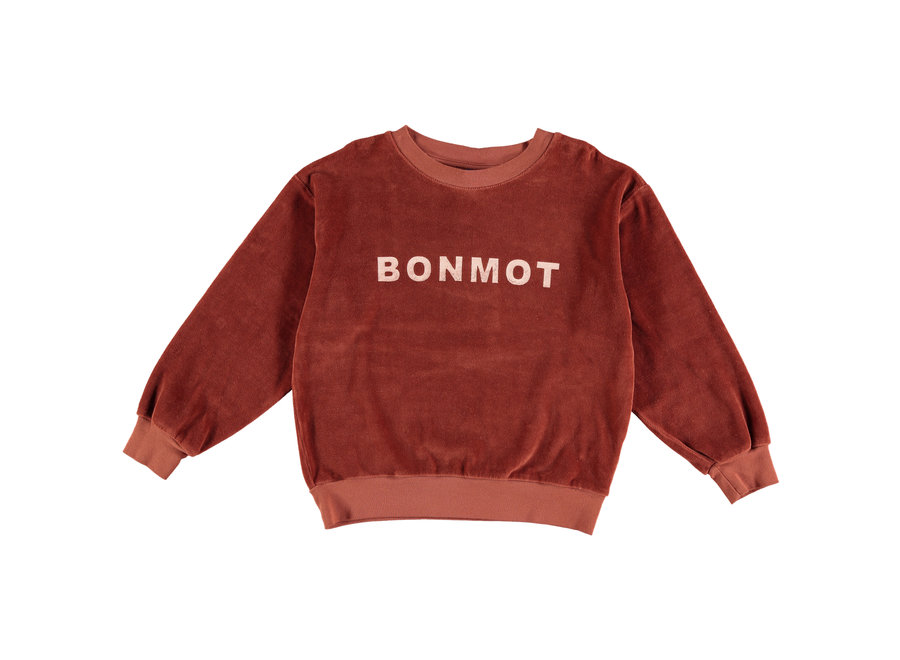 Sweatshirt Velvet Bonmot Rust