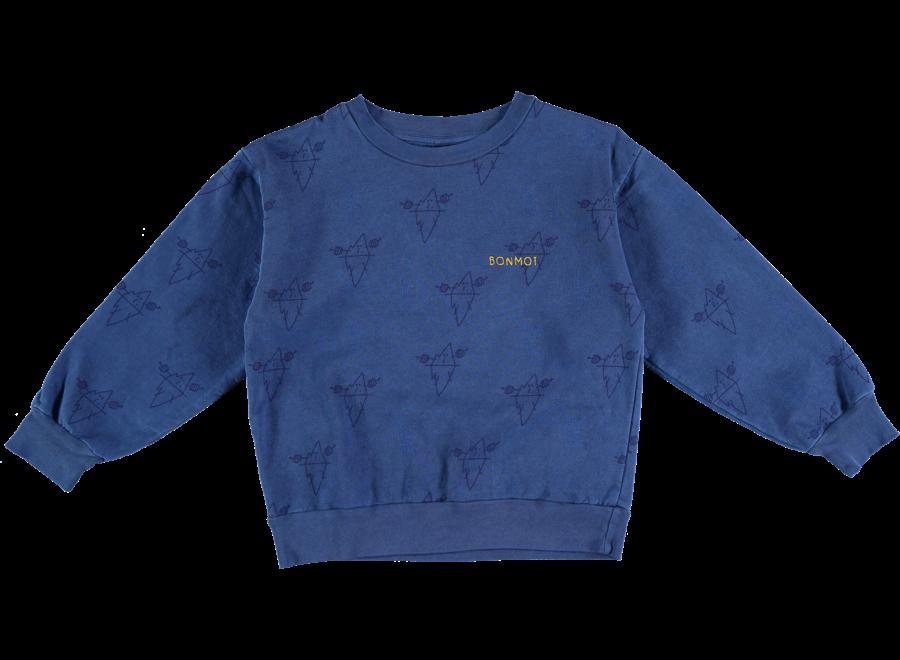 Sweatshirt Big Icebergs sea blue