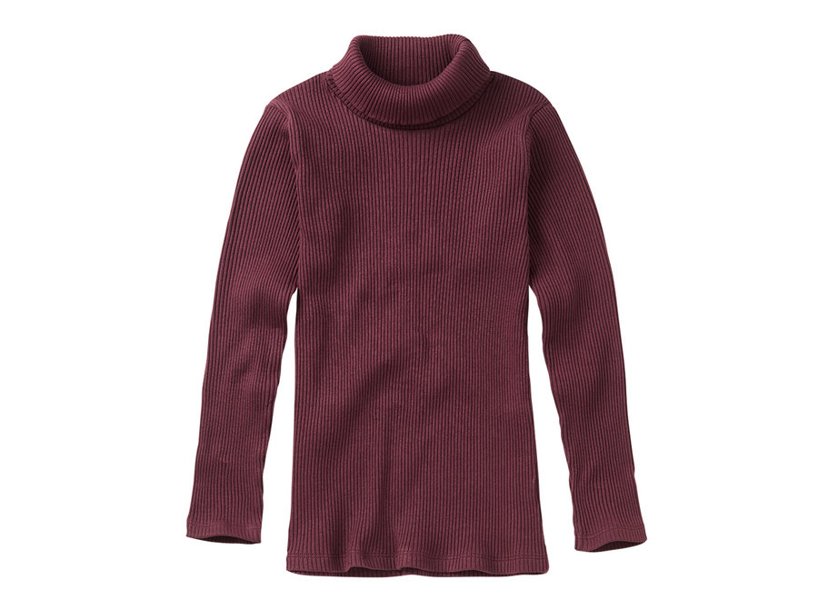 Rib Turtle neck Plum