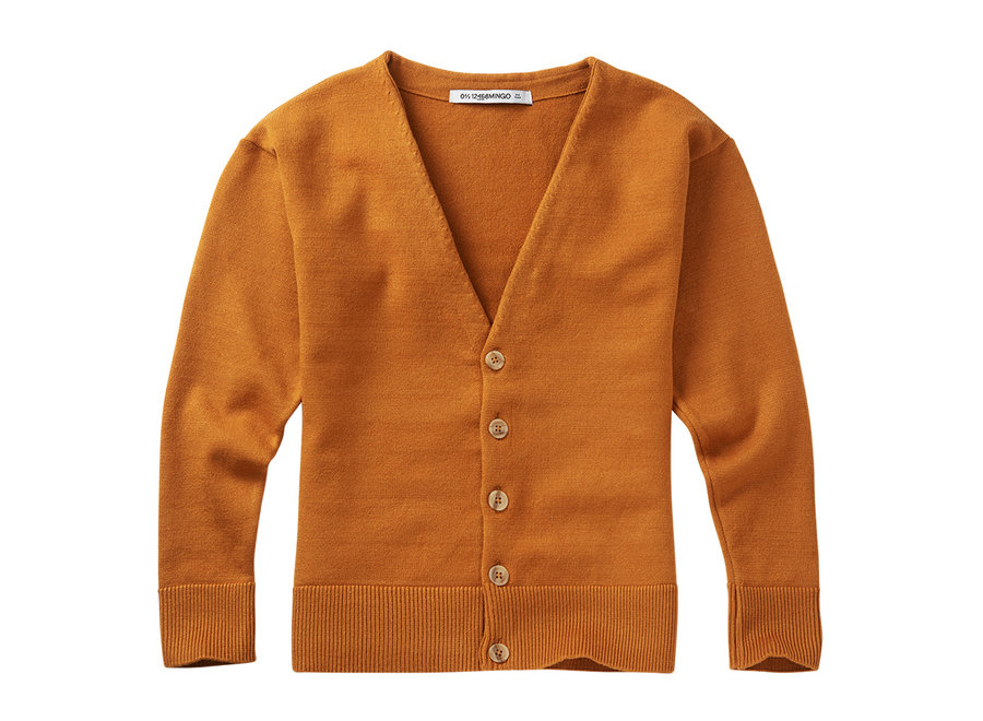 Soft Knit Cardigan Dark ginger