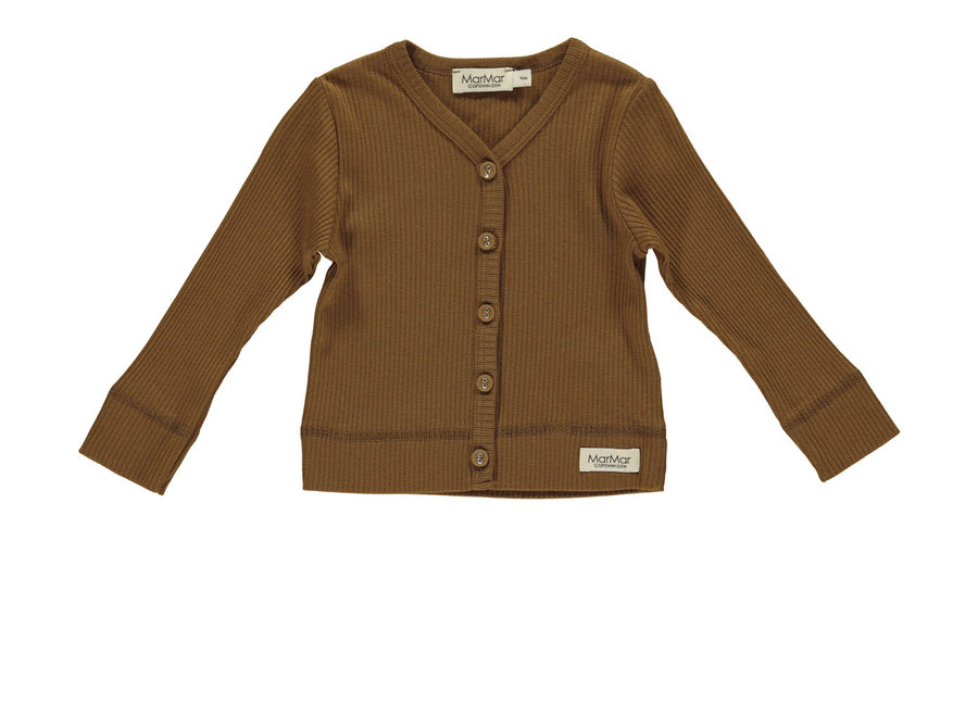 Cardigan ls Modal Leather
