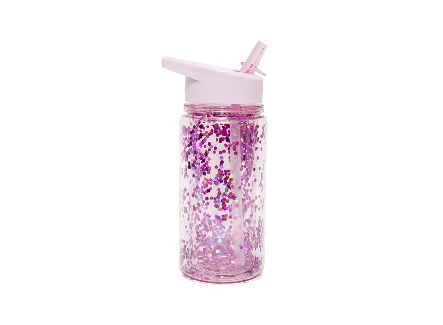 Drinking bottle glitter orchid