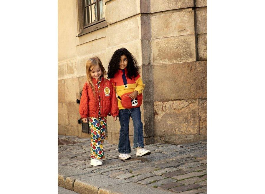 Fleece zip pullover colourblock