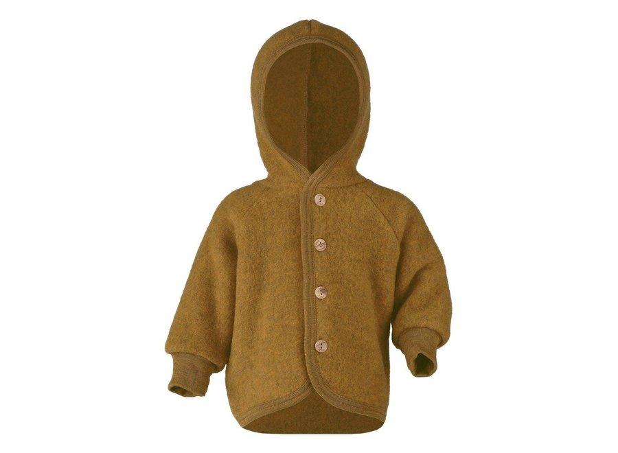 Hooded jacket saffron mélange