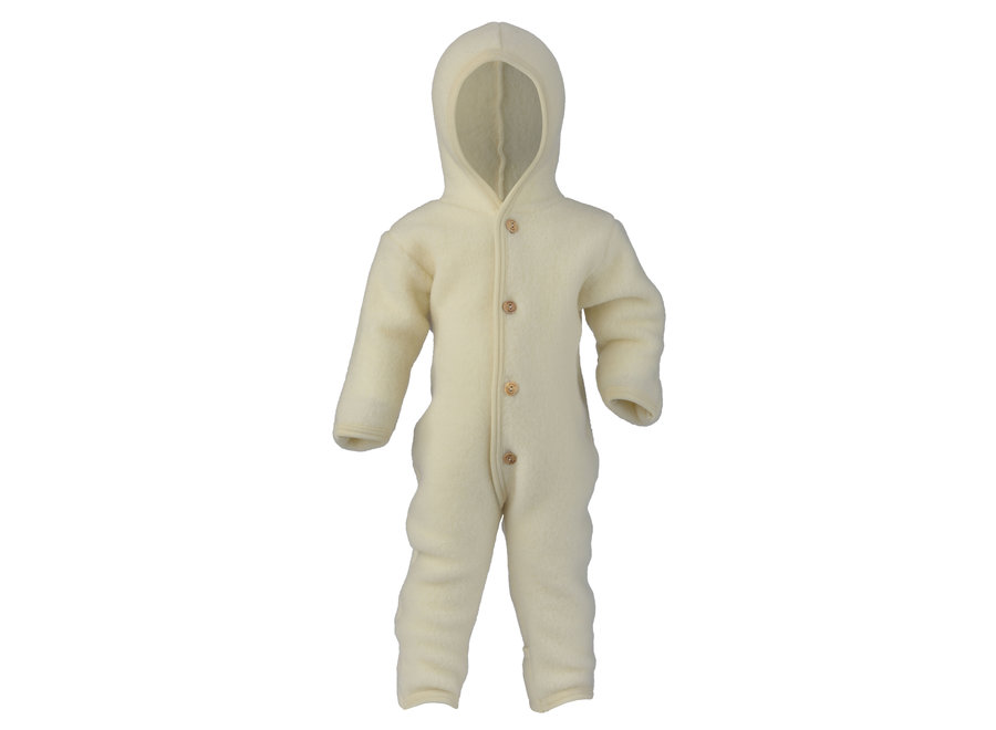Hooded overall natural