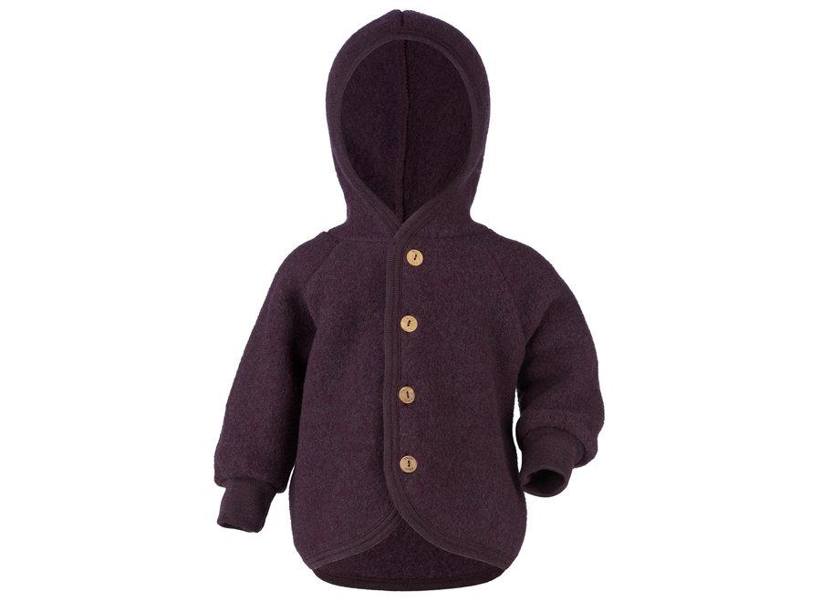 Hooded jacket purple mélange