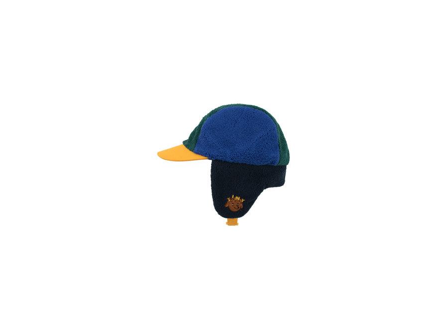 Color block chapka navy/blue