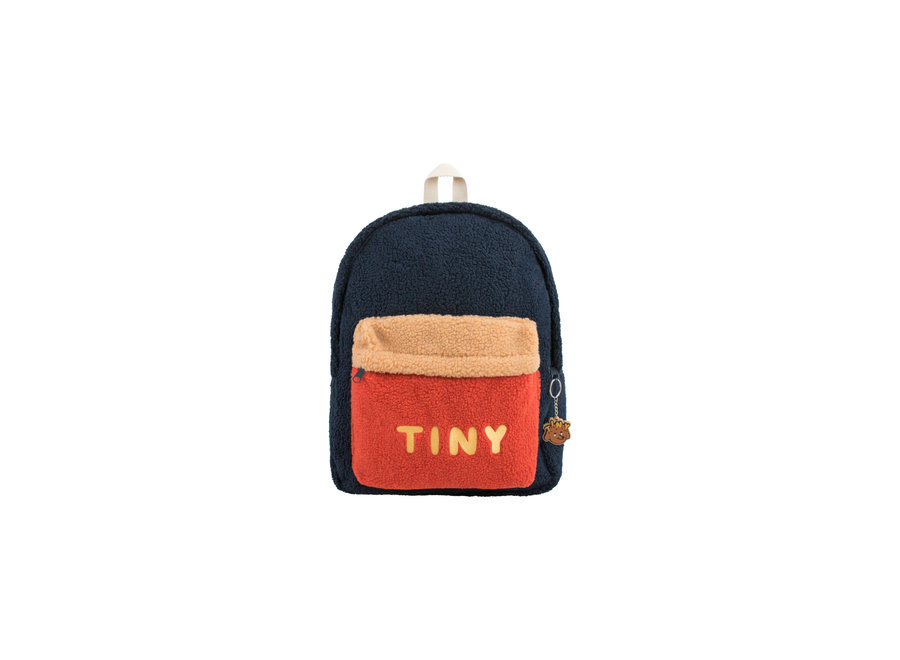 Tiny big color block backpack