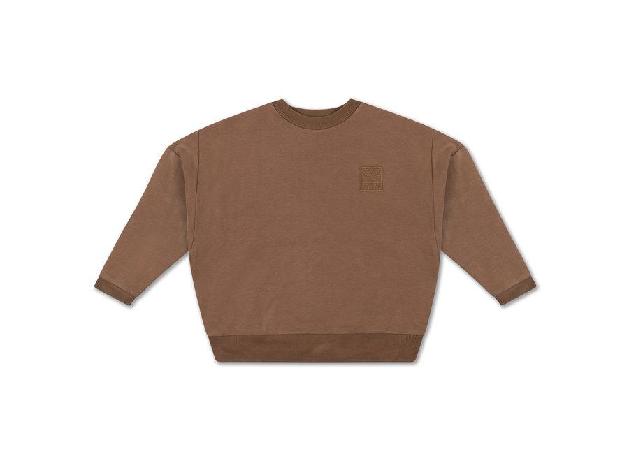 Crewneck sweater Chocolate brown