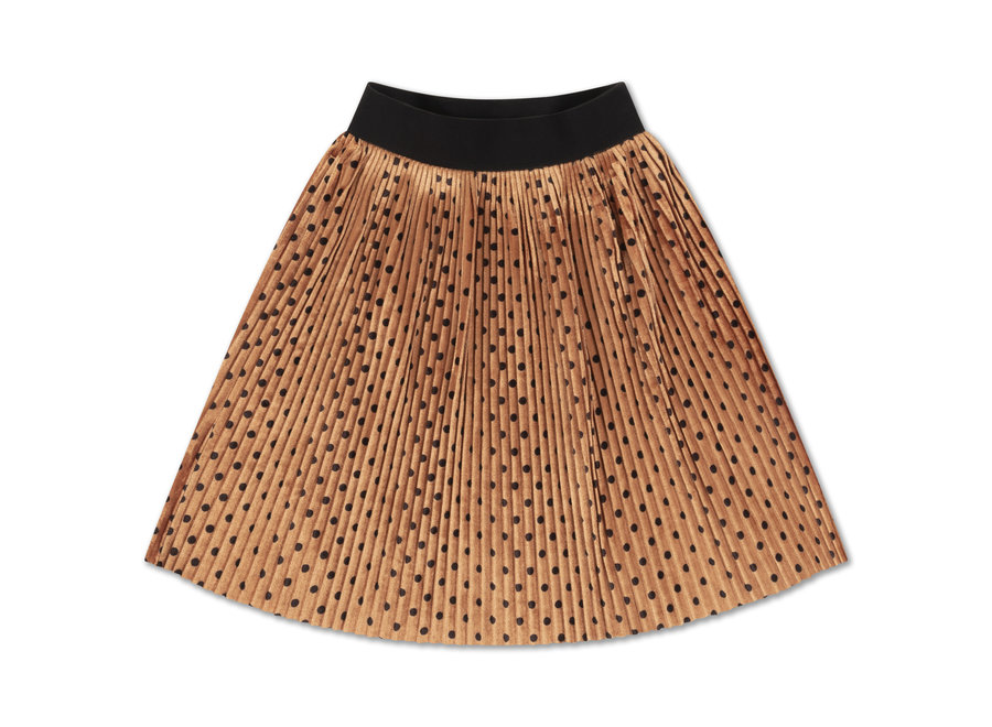 Plisse skirt all over dot
