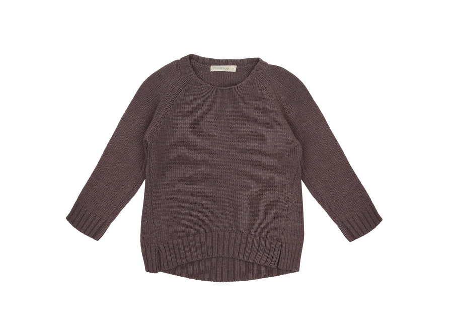 Cashmere blend knit sweater Dried Lavender