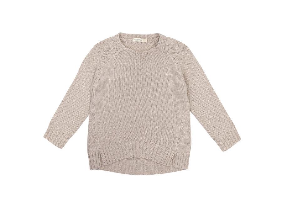 Cashmere blend knit sweater Straw