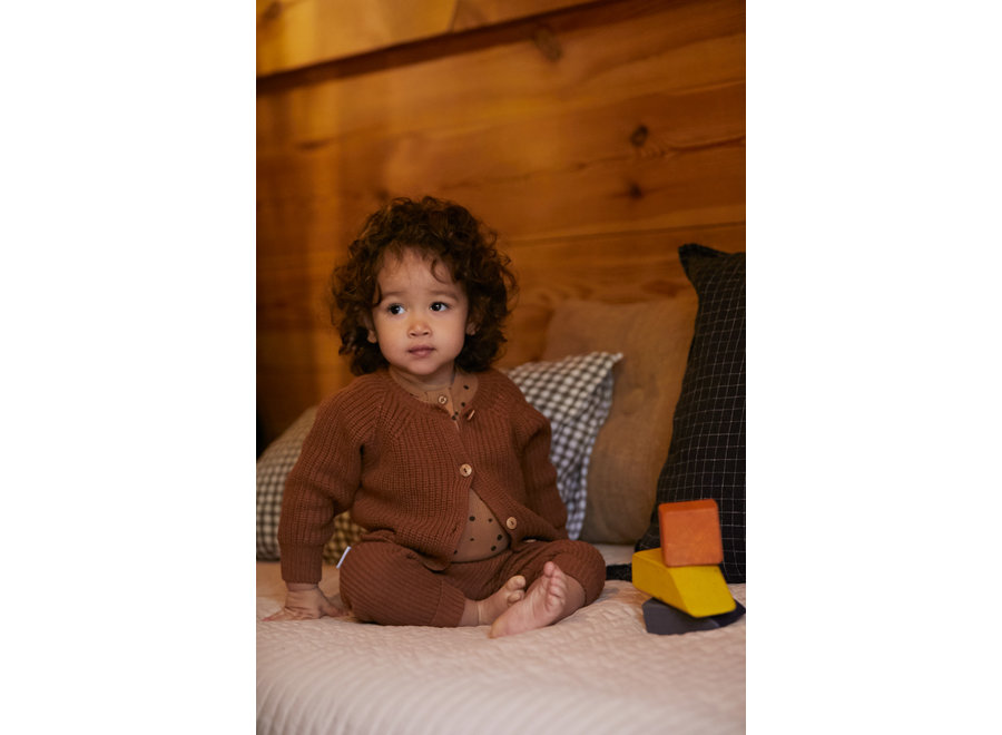 Knit baby pants Pecan