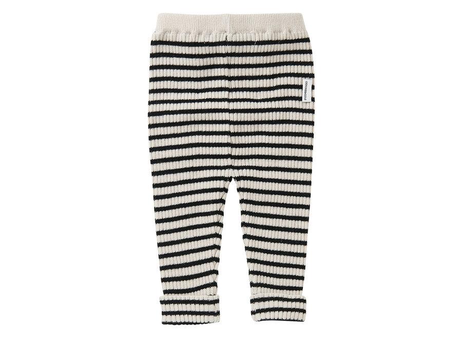 Knit baby pants stripes white/black