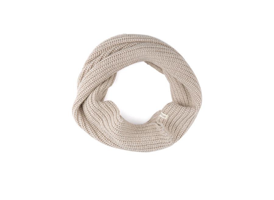 Cashmere blend infinity scarf Straw