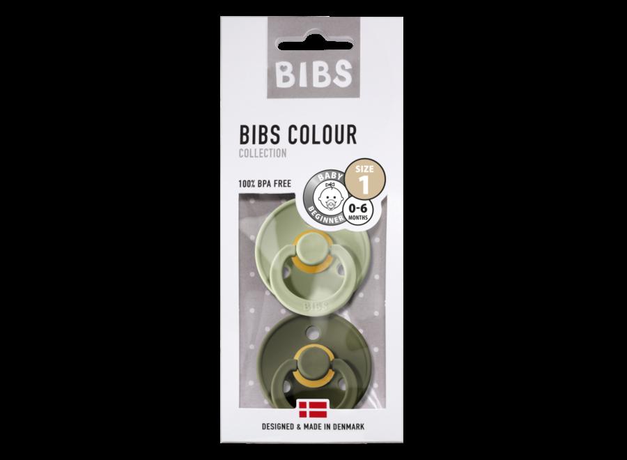 Bibs pacifier set Sage/Hunter Green
