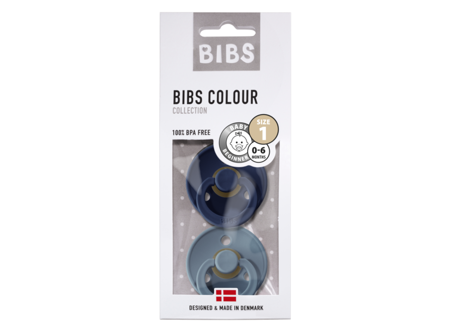 Bibs pacifier set Deep Space/Petrol