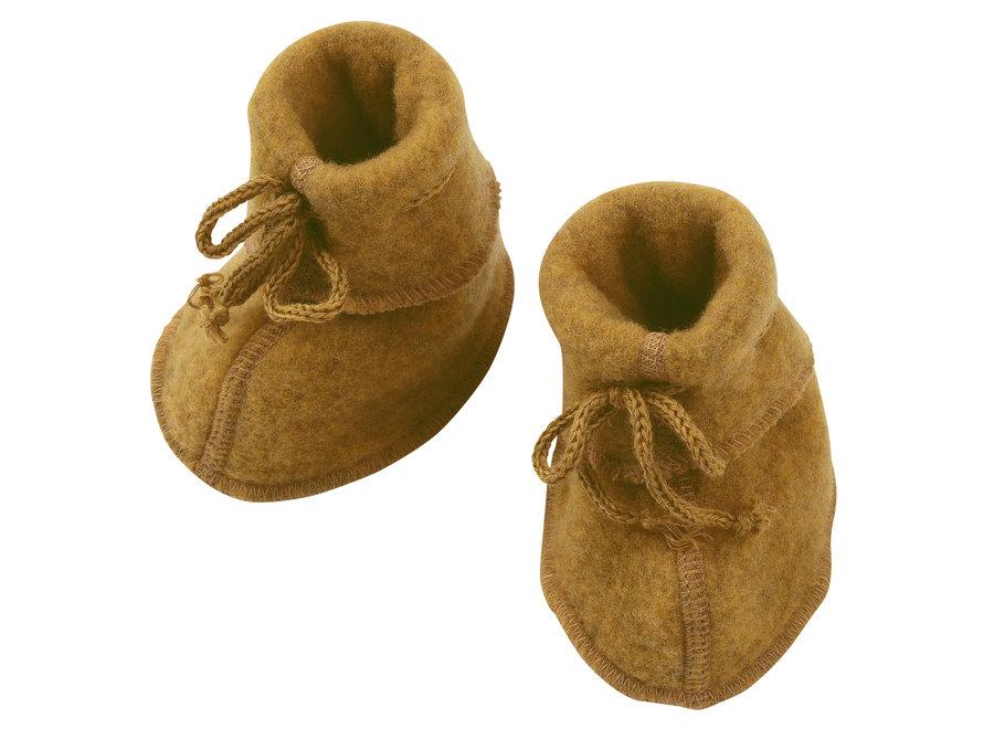 Baby booties saffron mélange