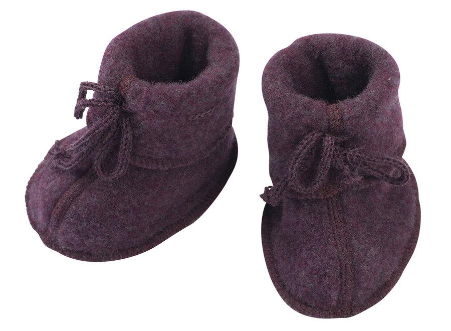 Baby booties purple mélange