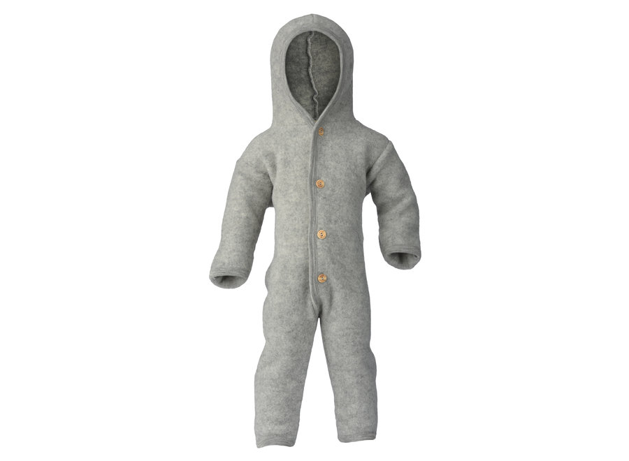 Hooded overall light grey mélange