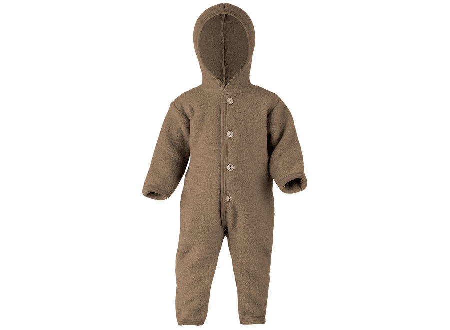Hooded overall walnut mélange