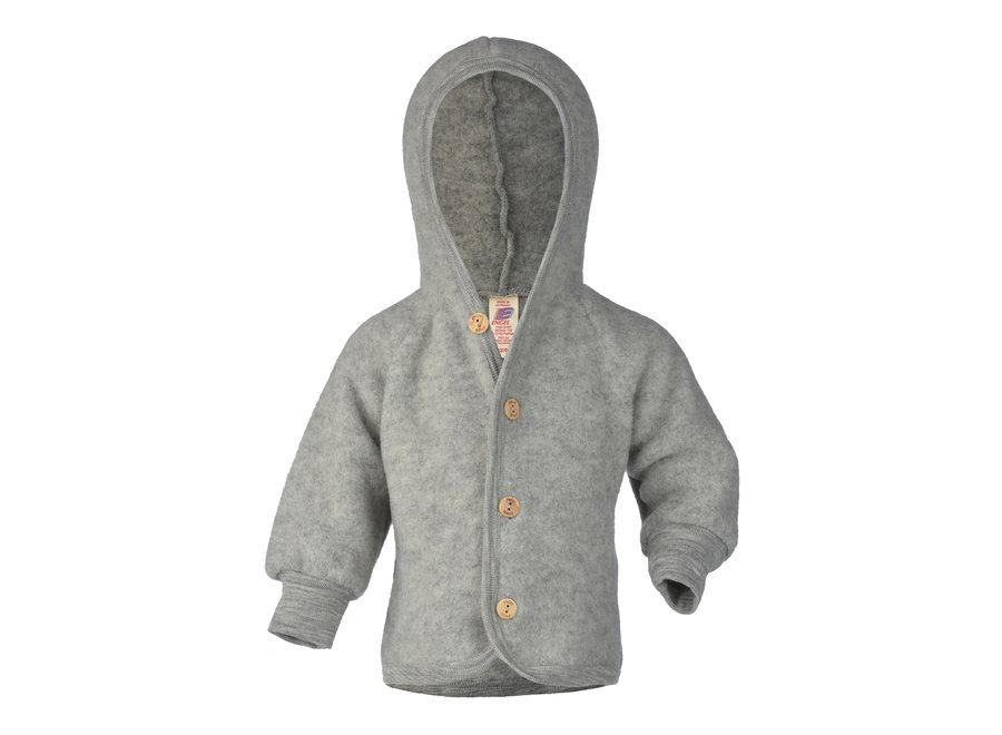 Hooded jacket light grey mélange