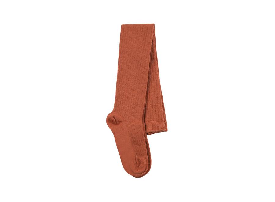 Rib tights Dark Brown