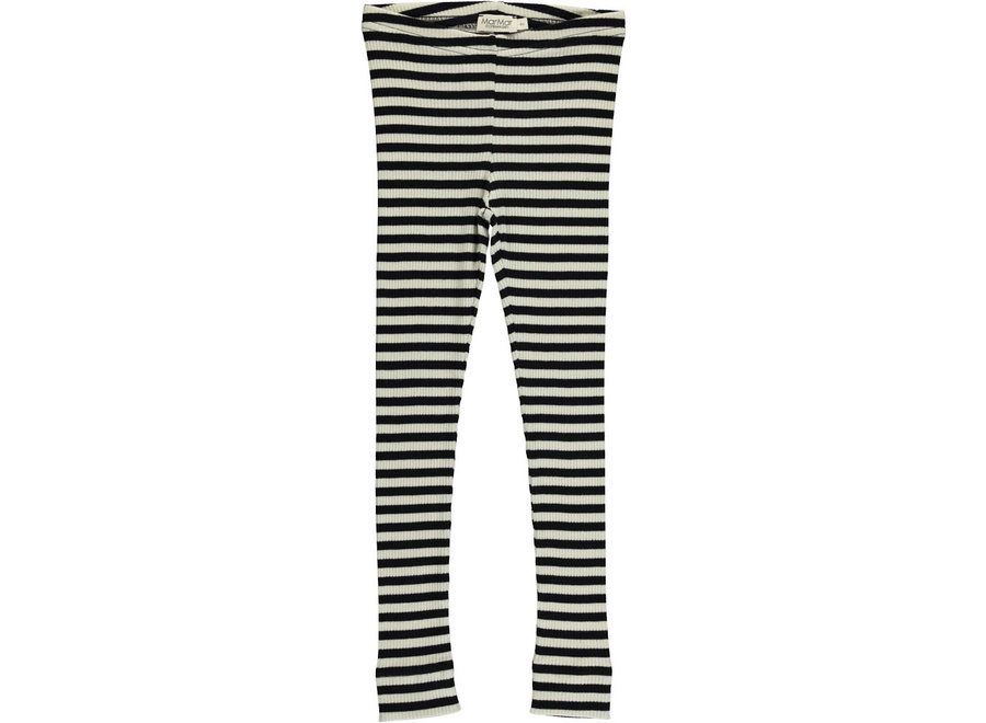 Leg Modal Pants Stripes Black/Off White