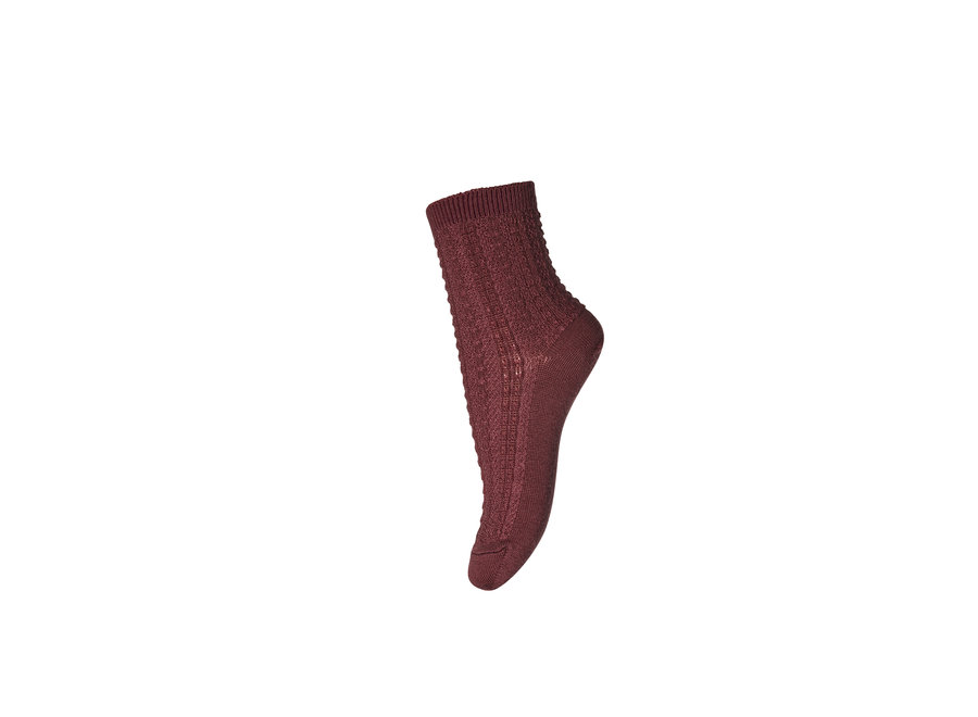 Socks Wool Anna 4195 Dusty Brick
