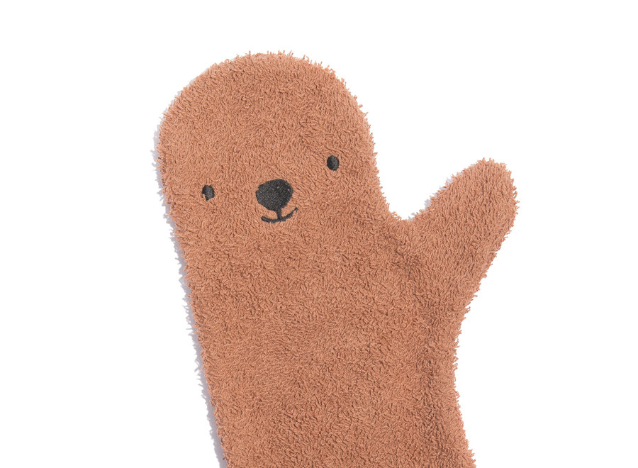 Baby shower glove Brown Bear
