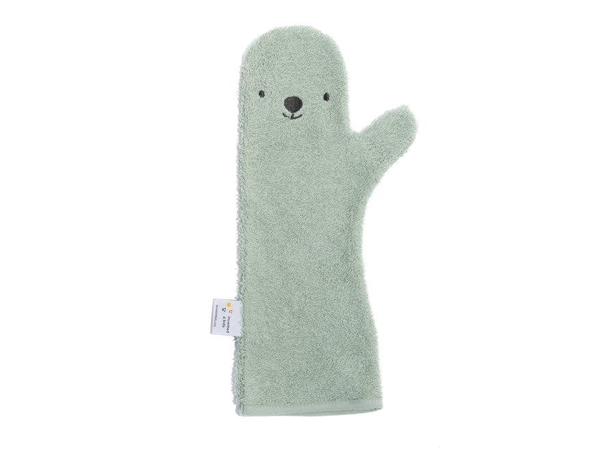 Baby shower glove Green Polar Bear