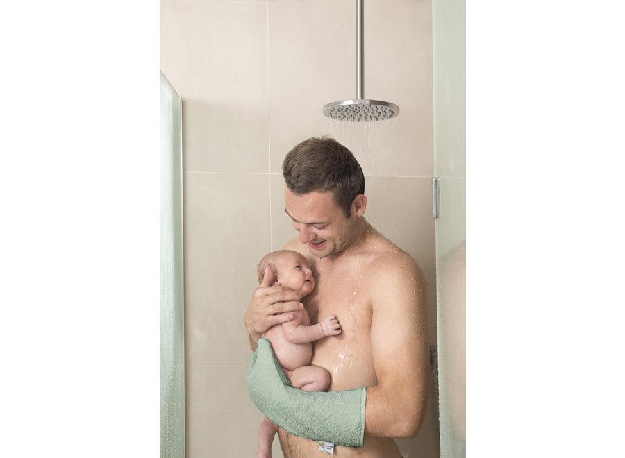 Baby shower glove Darkgreen Beaver