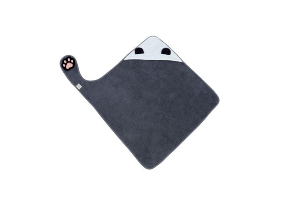 Handsfree Badcape blauw/grijze Panda