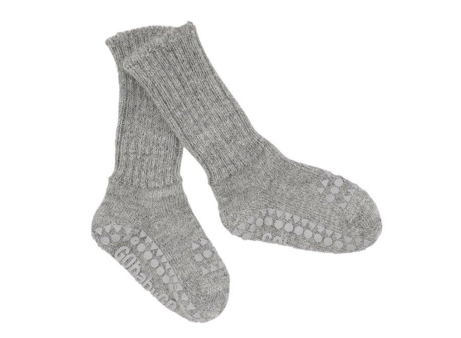 Alpaca Non Slip Socks Grey Melange