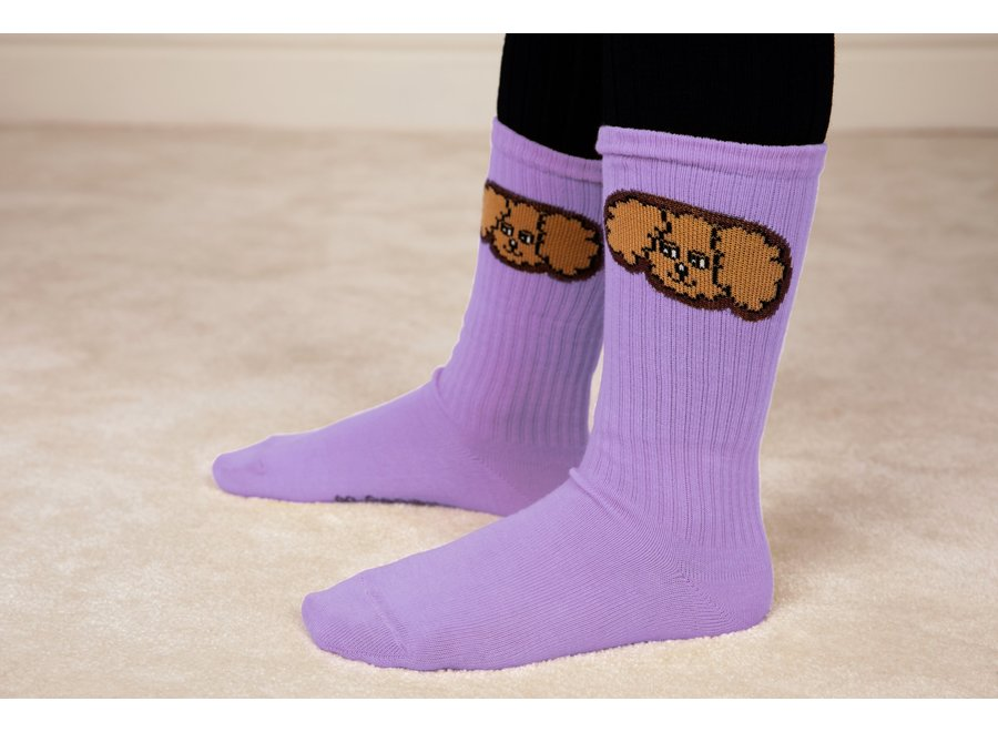 Fluffy dog socks