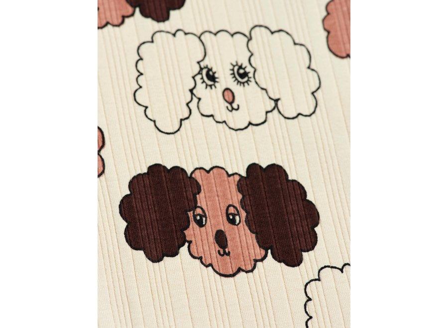 Fluffy dog aop ls tee