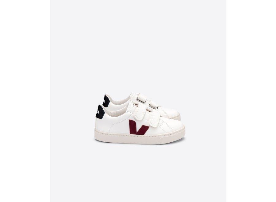 Veja Esplar Leather White Marsala Black