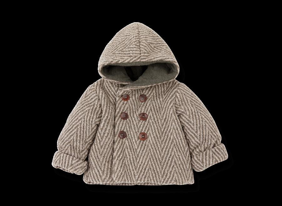Pollino hood jacket rose/terrau