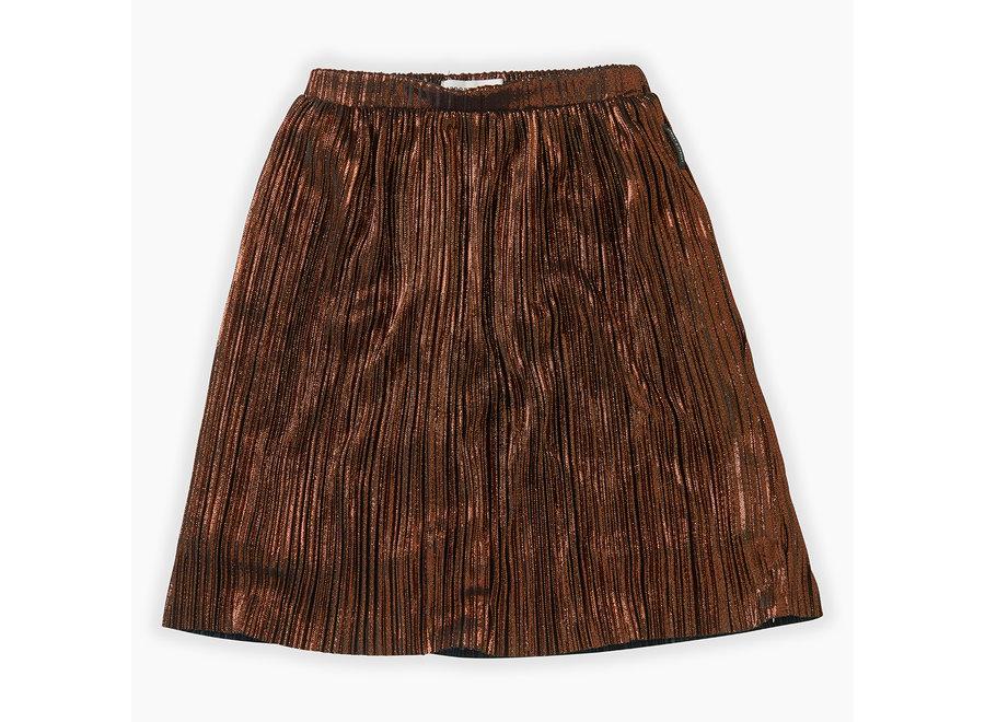 Midi Skirt Metallic Gold